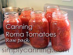 Canning Tomatoes, Step by step instructions and recipe for raw pack method.