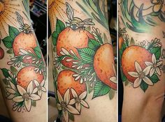 Don't love this orange blossom tattoo but couldn't really find a good one