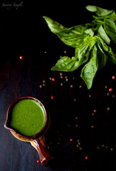 Basil Peppercorn Vinaigrette - Savory Simple