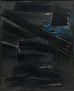 14 April, 1958 / Pierre Soulages / oil on canvas / 1958