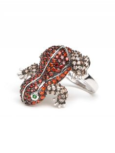 Red Frog ring-Love!
