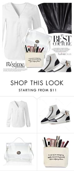 """Black and White and Rockchic"" by vanjazivadinovic ❤ liked on Polyvore featuring Anja, polyvoreeditorial and twinkledeals"