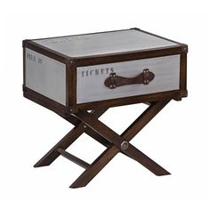 Voyager Trunk Side Table On Stand