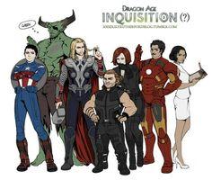 Dragon age inquisition avengers http://uastis.tumblr.com/