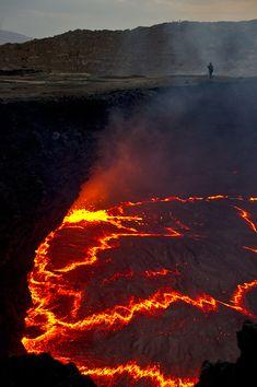 Erta Ale lava lake, Ethiopia. Photo: M. Detay  by   mdetay