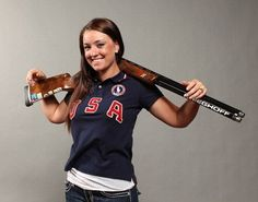 Olympic shooter Corey Cogdell - a trap shooter who won a bronze medal at the 2008 Olympic Games - is also a trophy hunter.    After she published pictures of herself with animals she killed, liberal anti-hunting activists expressed their hatred on Twitter, with some calling on her to shoot herself, Twitchy reported Sunday.