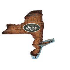 NFL New York Jets State Shape Logo Sign