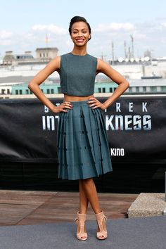 Zoe Saldana Dons Calvin Klein Collection at the Star Trek Into the Darkness Berlin Photocall | Fashion Gone Rogue: The Latest in Editorials and Campaigns