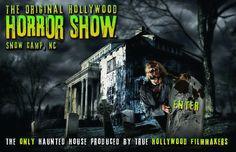 Hollywood Horror Show en Snow Camp , NC se abre este fin de semana ! Hollywood Horror Show es la atracción embrujada más temible y más grande de interior / al aire libre en Carolina del Norte. Es un camino oscuro recorrido de puro terror , con decenas de actores en vivo, juegos realistas y...more http://lnkd.in/bN7KBEv