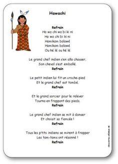 Chanson Hawachi, chanson indien maternelle