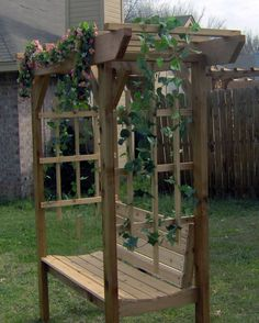 Garden Arbor With Bench. Good for the back triangle?
