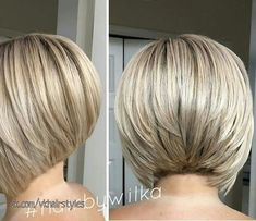 Classic Brunette Balayage - 20 Inspirational Long Choppy Bob Hairstyles - The Trending Hairstyle Angled Bob Haircuts, Inverted Bob Hairstyles, Medium Bob Hairstyles, Curly Angled Bobs, Stacked Haircuts, Stacked Bobs, Layered Bobs, Pixie Haircuts, Braided Hairstyles