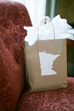 """guest welcome bag that looks like MN! Perfect for out of town guests who are still convinced I live in """"fly-over country"""""""