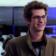 Andrew Garfield or should I say Peter Parker in The Amazing Spider-Man. Is it weird that I found him even more adorable when he wore those glasses and did a whole bunch of science stuff?