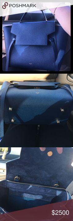 Authentic Celine Belt Bag (2016) Like new authentic Celine belt bag in grained calfskin (deep sea color).$2,000 thru PP, Venmo or Mercari Celine Bags Shoulder Bags