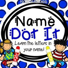 Names dot it/trace it will make name writing fun in your classroom! I use this activity all year long in my preschool classroom to help my students learn the letters in their first and last names and to practice letter formation. Included are pages that fit names from 2 letters to 10 letters. This activity is designed for a preschool, pre-k, or kindergarten classroom. Name Activities Preschool, Handwriting Activities, Preschool Centers, Letter Activities, Preschool Curriculum, Preschool Classroom, Classroom Ideas, Homeschool, Preschool Alphabet