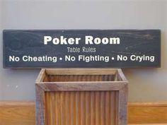 Poker room...
