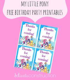 my little pony birthday printables