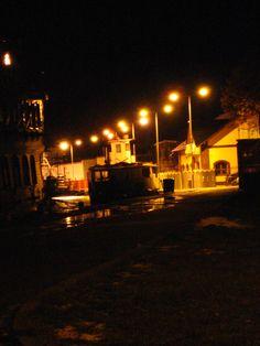 Marina Dziwnów at night