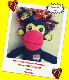 Phoenix, the WTF? monkey has a special message. Pass it on! Bronchial Pneumonia, Lung Cancer, Cursed Child Book, Monkeys, Lunges, Cancer Awareness, Phoenix, Action, Messages