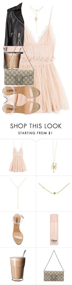 """""""There are two different types of people in the world, those who want to know, and those who want to believe."""" by quiche ❤ liked on Polyvore featuring Alexander McQueen, Jennifer Fisher, ZoÃ« Chicco, Sydney Evan, adidas, Chloé and Gucci"""