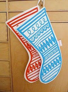 Jane Foster screen printed stockings