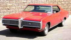 Red 1968 Pontiac Grand Prix
