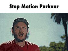 Stop Motion Parkour GIF