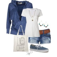 """coffee on the beach"" by pamlcs on Polyvore"