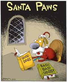 The Flying McCoys by Glenn and Gary McCoy ~ Christmas Humor ~ Santa Paws