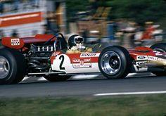 Jochen Rindt, Lotus on his way to his maiden GP win, Watkins Glen Sport Cars, Race Cars, Motor Sport, F1 Lotus, Jochen Rindt, Gilles Villeneuve, Watkins Glen, Race Engines, Formula 1 Car