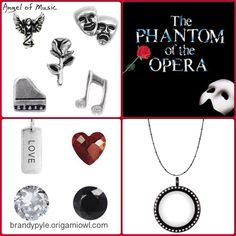 The Phantom of the Opera themed origami owl living locket. To order any of these pieces, go to my webpage at http://lorian.origamiowl.com angel of music music of the night the point of no return