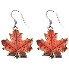 Maple Leaf autumn Pewter Wire Earrings ($26) ❤ liked on Polyvore featuring jewelry, earrings, pewter jewelry, dangling jewelry, earring jewelry, leaves jewelry and leaf earrings
