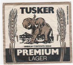 10 vintage African beer labels