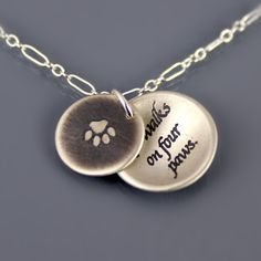 Love Walks on Four Paws Necklace by Lisa Hopkins Design