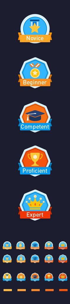 Award icons on Behan...