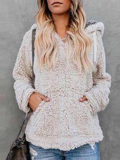 Memorose Womens Casual Hoodie Long Sleeve Horn Button Pocket Winter Coat Jacket Outwear Darkgrey 2XL