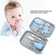 For Sale - Baby Care Kit Children's Nail Scissors Scissors Hair Brush Manicure Comb Baby Supplies Clipper Box Travel Nail Clipper Baby Set, Baby Gift Sets, Baby Nail Clippers, Baby Health, Health Care, Nose Cleaner, Baby Nails, Nails For Kids, Multiplication For Kids