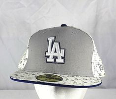 LA Dodgers White Gray Baseball Cap Fitted 7 3 4 NWOT  NewEra   73f9adcd8c95