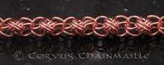 Full Persian Ladder top/bottom by Redcrow at Corvus Chainmaille, via Flickr