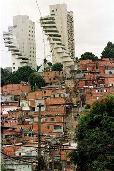Favela de Paraisópolis (São Paulo Brazil) Favelas Brazil, Travel Around The World, Around The Worlds, Brazil Cities, Brazil Culture, Learn Brazilian Portuguese, Fantasy Castle, Architecture Old, Scenery Wallpaper