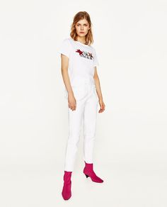 ZARA - WOMAN - TOP WITH PATCHES