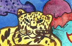 Wise are those who dream Panther ACEO Painting Original Animal Painting Original ACEO Mixed Media Tiger Wildlife Art by Niina Niskanen Original Artwork, Original Paintings, Exotic Pets, Exotic Animals, Artist Card, Etsy Crafts, Wildlife Art, Animal Paintings, Big Cats