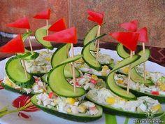 Gurken-Schiffchen