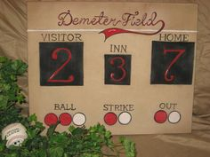 Baseball Scoreboard Personalized With Your Family By Carencreates 5500