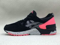 83f35ab63d168 2018 Cheapest Unisex Asics GEL LYTE V 5 Black Noir Red Grey H7N4L 9090 EUR0  36-44