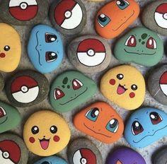 Para un cumpleaños especial - Pokemon Ideen Pebble Painting, Pebble Art, Stone Painting, Diy Painting, Beginner Painting, Garden Painting, Painting Flowers, Rock Painting Patterns, Rock Painting Ideas Easy