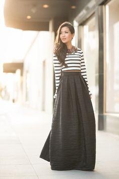 Comment porter une jupe longue ?