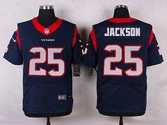 Nike Houston Texans  25 Kareem Jackson Blue Elite Jersey 7834f1144