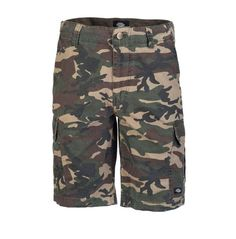 New York Cargo Shorts by Dickies in Camo. Available online at www.recreo.co.uk